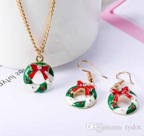 2019 2018 New Christmas Party Ornaments Hot Fashion Drop Oil Bow