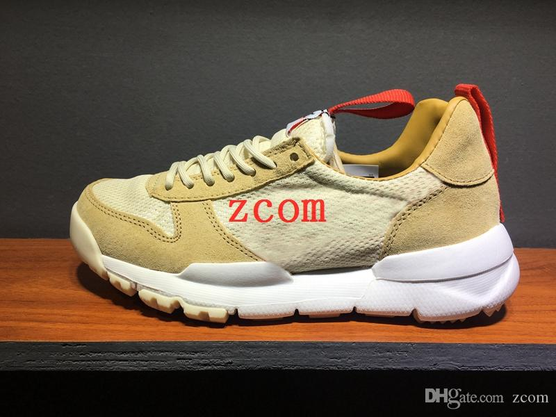Tom Sachs x Craft Mars Yard 2.0 TS NASA Running Shoes for men AA2261-100 Natural Sport Red Sneaker Designer Shoe Zapatillas Vintage