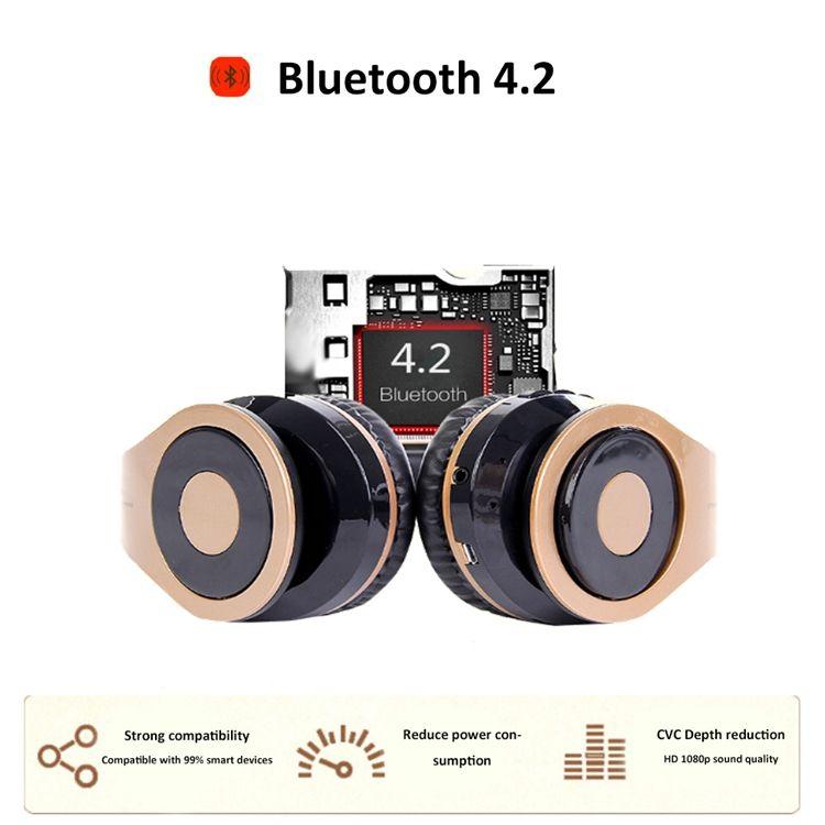 BT-768 Hohe Qualität Klapp Bluetooth Headset Sporting Geräuschminderung Stereo-Kopfhörer TF-Karte mit Kleinpaket unterstützen