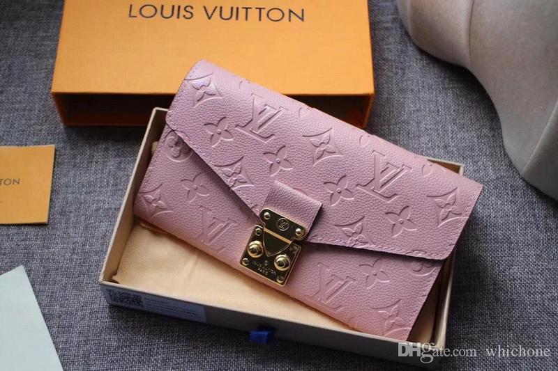 0c02bd522a3e 2018 Wallet Women Red Leather Zipper Long Women Wallet Phone Bag ...