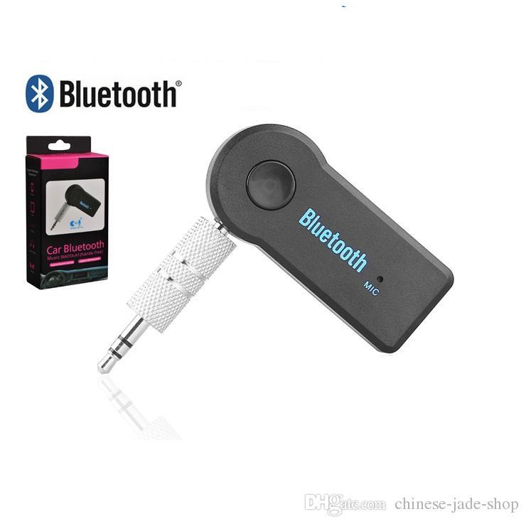 Stereo 3.5 Blutooth Wireless för bilmusik Ljud Bluetooth-mottagare Adapter AUX 3.5mm A2DP för hörlursreciever Jack Handsfree /
