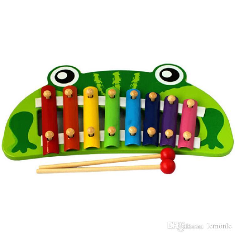 8-nota bebê cedo instrumento musical mão batida piano sapo multicolor xylophon desenvolver música toy para crianças presentes