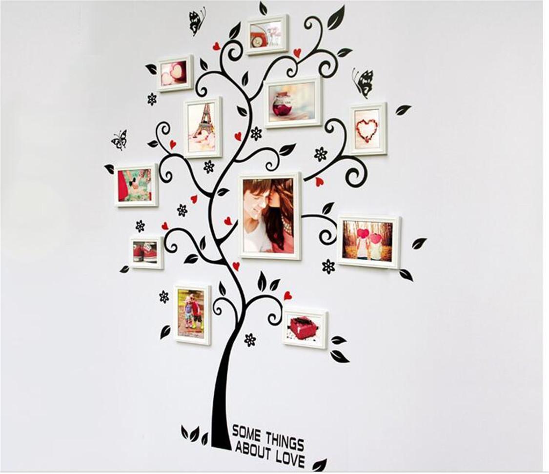 DIY Famille Cadre Photo Arbre Sticker Mural Décor À La Maison Salon Chambre Stickers Muraux Affiche Décoration de La Maison Papier Peint