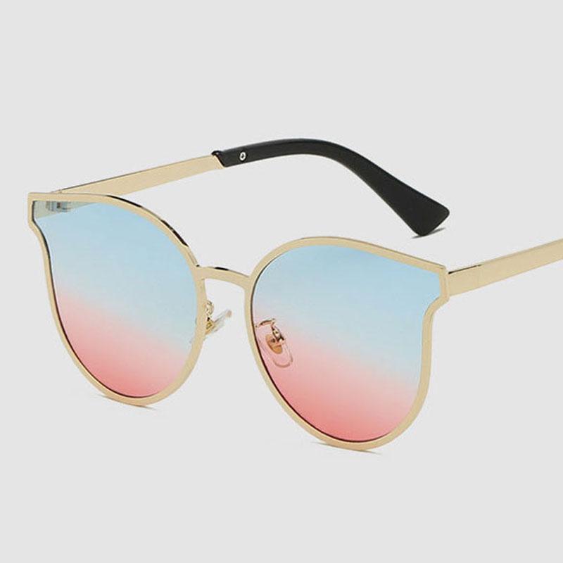 7a04ca15eb 2018 New Arrival Fashion Design Sunglasses Women Metal Frame Cat Eye  Oversized Sun Glasses Vintage Female Popular Sunglasses Retro UV400  Eyeglasses ...
