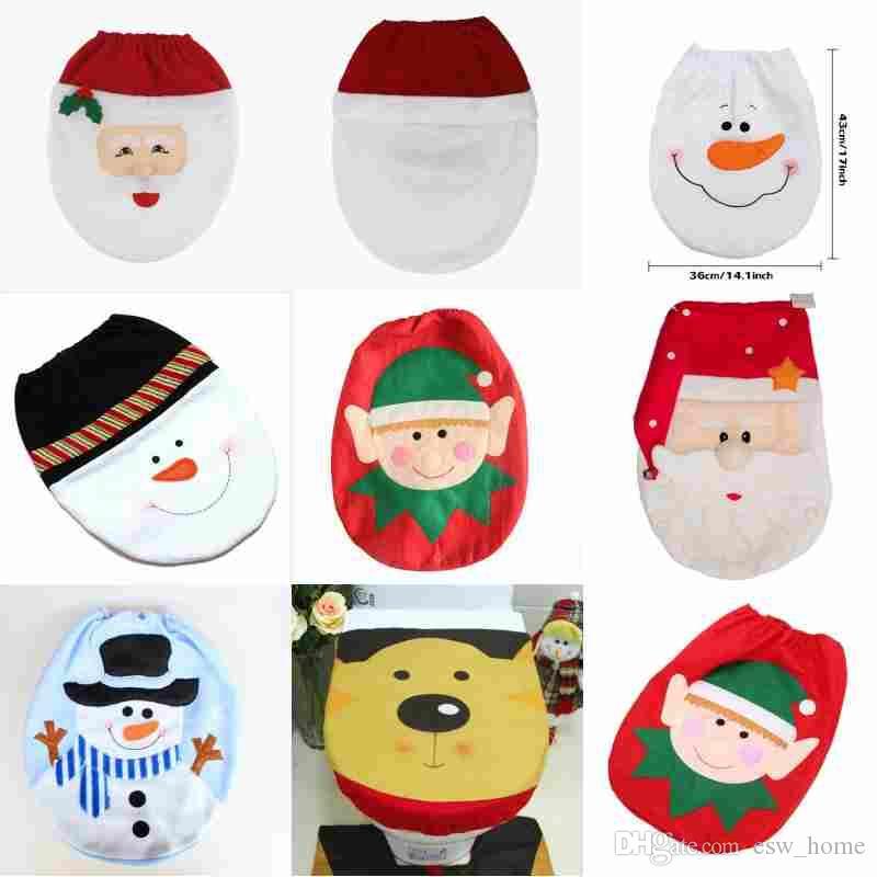 Copri Wc Babbo Natale.Acquista 2018 Decorazioni La Casa Di Natale Pupazzo Di Neve Copri