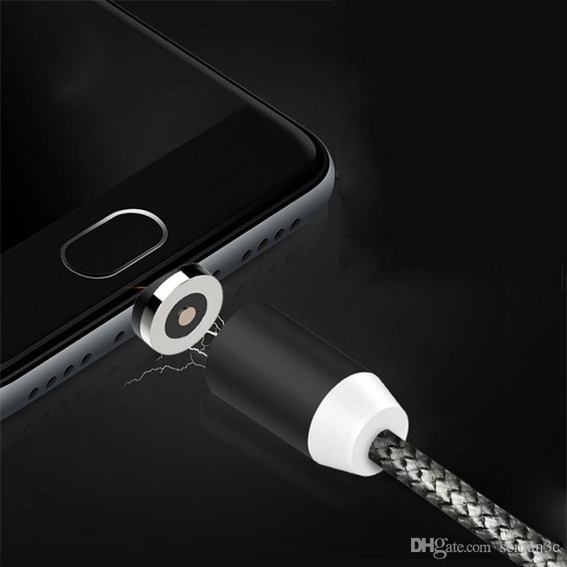3 in 1 Manyetik Kablo Mikro USB C Tipi Hızlı Şarj 1 M Naylon Cep Telefonu Şarj Kabloları Samsung note8 huawei mate10