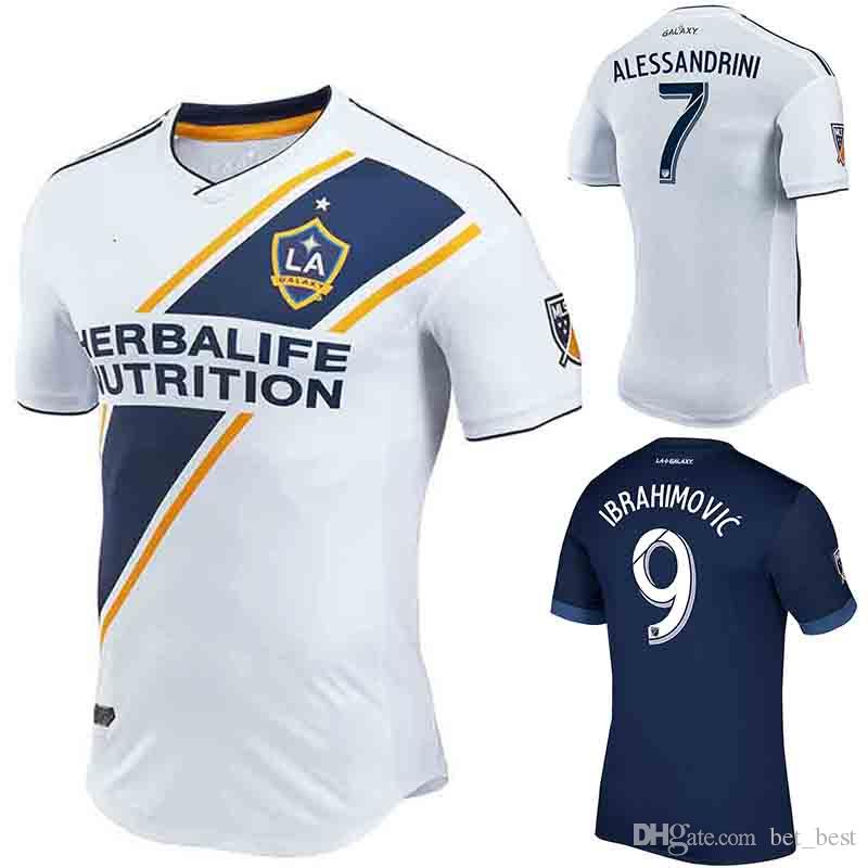 hot sale online d5aa0 e2d03 2018 LA Galaxy Zlatan Ibrahimovic Jersey Lletget Giovani Kamara 18 19 LA  Galaxy Soccer Jersey Home White Away Navy Football Shirt