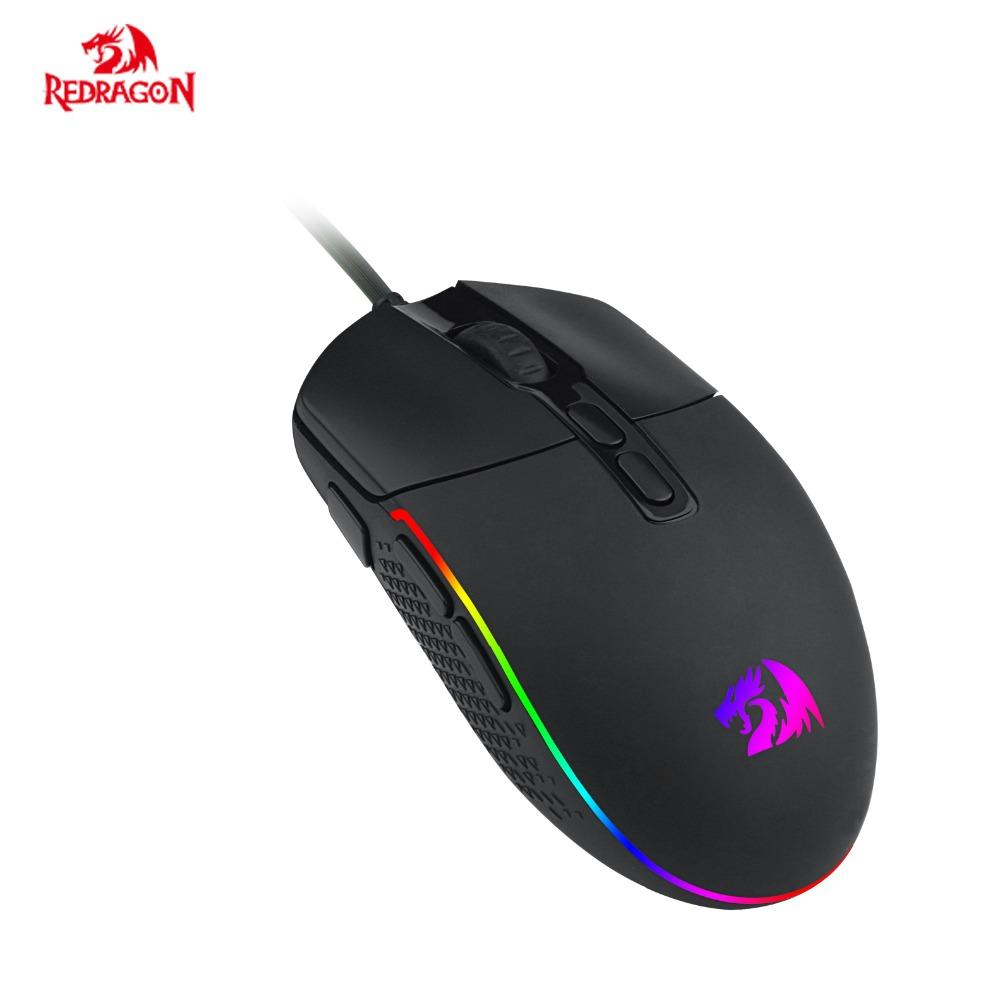 Redragon M719 New Gaming Mouse USB Wired 5 DPI RGB backlighting 7  Programmable buttons for Gamer Office Computer Mice