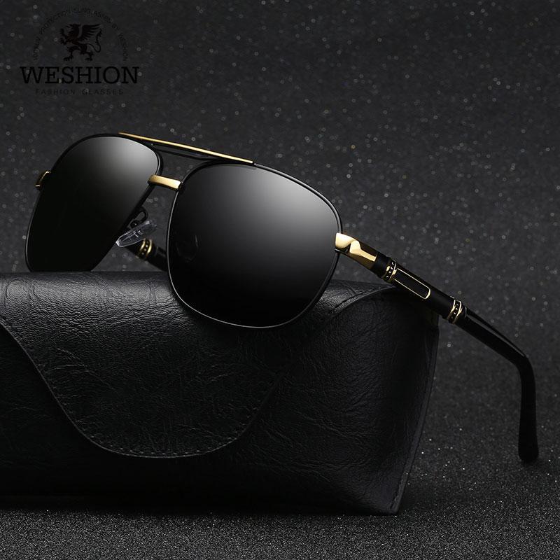 50305dccc281c WESHION Vintage Sunglasses Men Polarized Pilot 2018 Luxury Brand Designer  Small Shades Retro Sun Glasse UV40 Zonnebril Mannen Eyewear Designer  Sunglasses ...