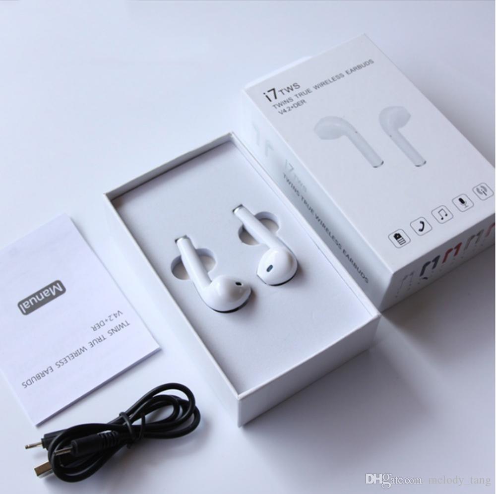 HBQ I7 TWS Zwillinge Mini Bluetooth Ohrhörer Drahtlose unsichtbare Kopfhörer Headset mit Mikrofon CSR4.2 Stereo Blurtooth Kopfhörer