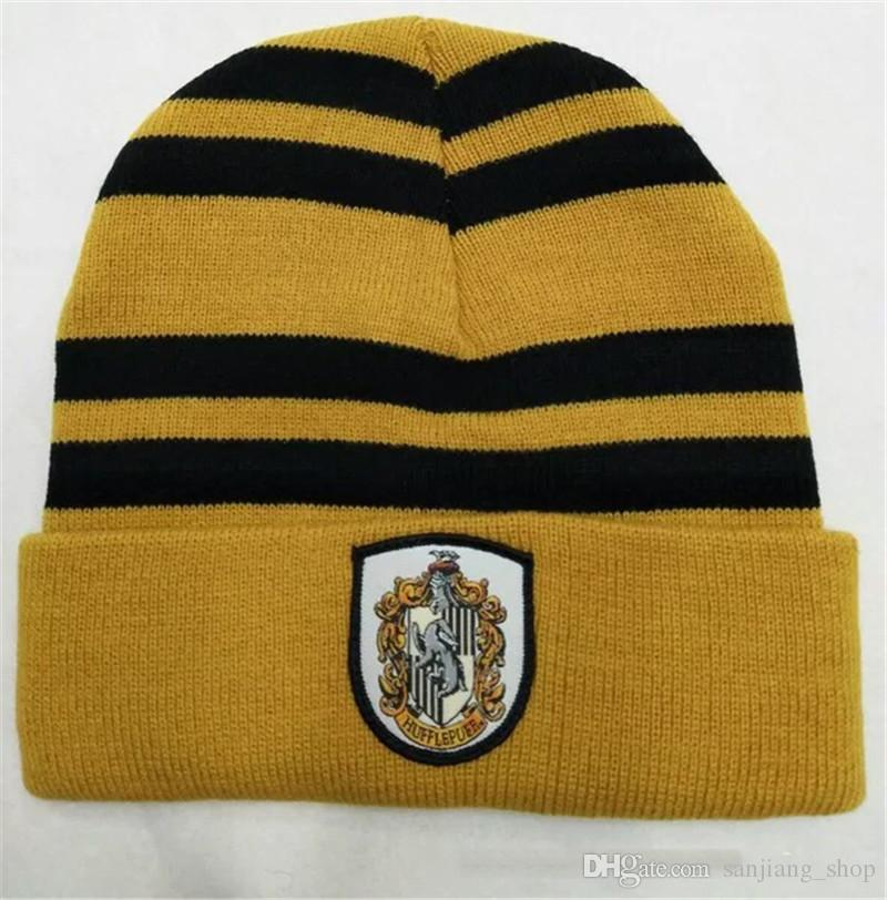 bb6cf126 WOMEN Men Harry Potter College Beanie Winter Knit Hat Ravenclaw Gryffindor  Slytherin Hufflepuff Skull Caps Cosplay Hats Striped Beanies Party Stuff  Party ...
