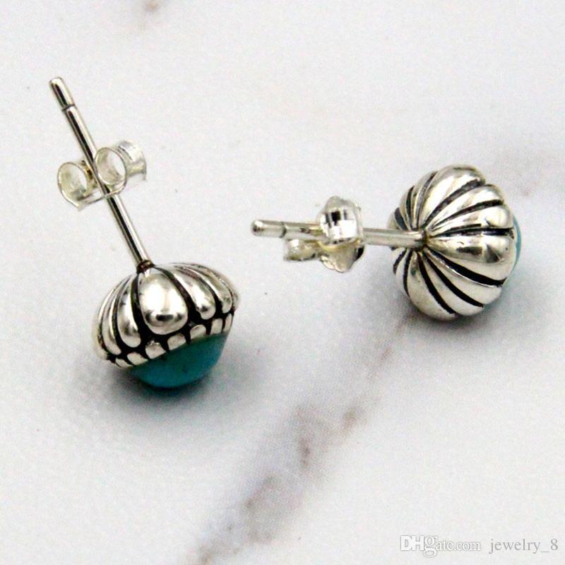 Otantik 925 Gümüş Doğum Günü Blooms Küpe, Aralık, Taş Damızlık Küpe Kadınlar Takı Pandora tarzı
