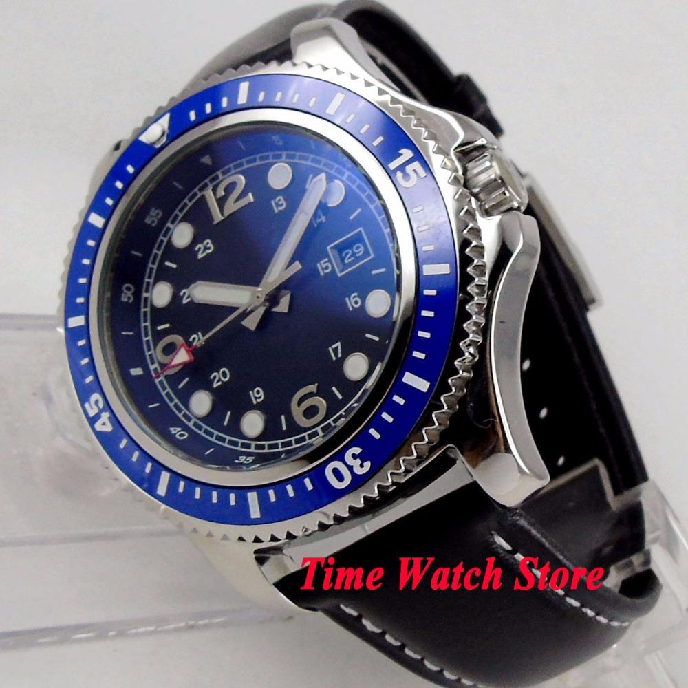 ae8023867 44mm No Logo Men S Watch Blue Dial Luminous Ceramic Bezel 21 Jewels Miyota  8215 Automatic Movement Wrist Watch Men 148 Watches Sale Sale Watches From  ...