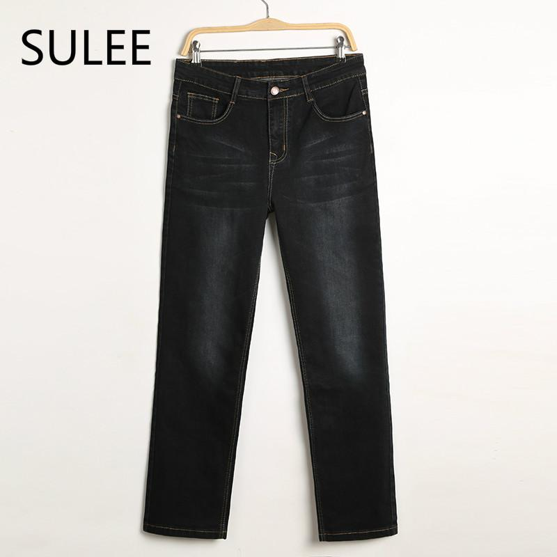 e91305e6e151d 2019 SULEE Mens Jeans Plus Size 30 44 Stretch Denim Men S Straight Jean  Pants Casual Relax Loose Fit Jeans Trousers Pants From Caeley