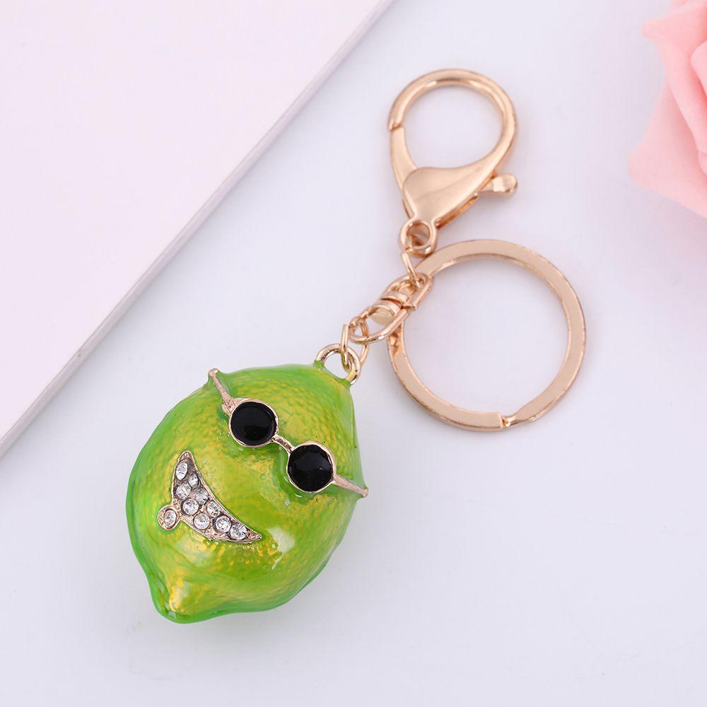Lemegeton Newest Hotselling No Minimum Women Custom Green Color Lemon Key  Chain Keychains From China Factory