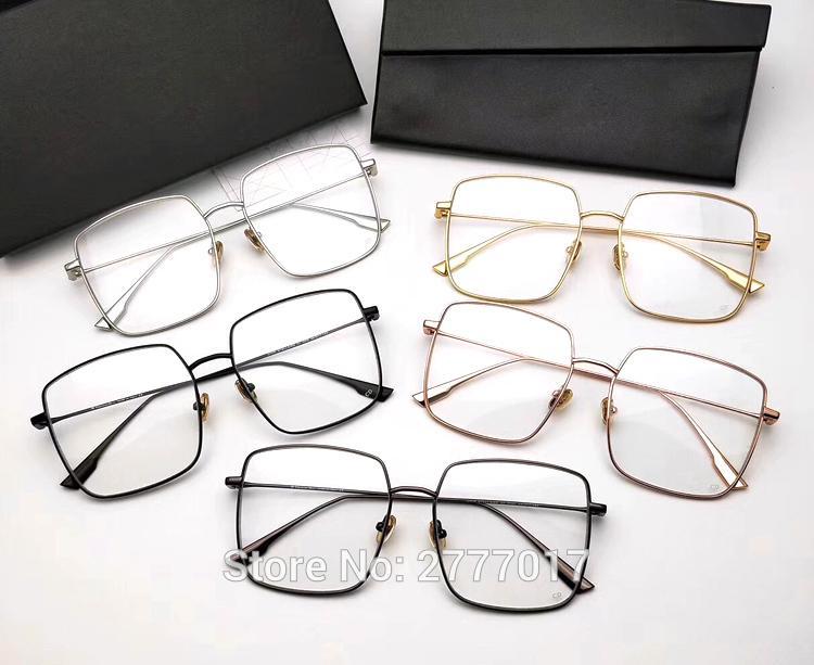 ade926f3535 2019 New Luxury Brand Women Glasses Metal Frame Eyeglasses Big Frame ...