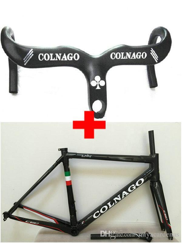 Colnago Carbono Guiador Preto Colnago C60 quadros de carbono bicicleta de estrada Quadro bicicleta de carbono cor de ouro frameset projeto
