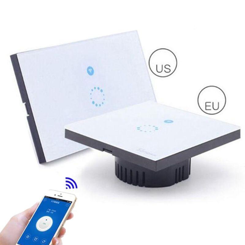 Sonoff Touch Us Eu Plug Wall Wifi Light Switch Glass Panel