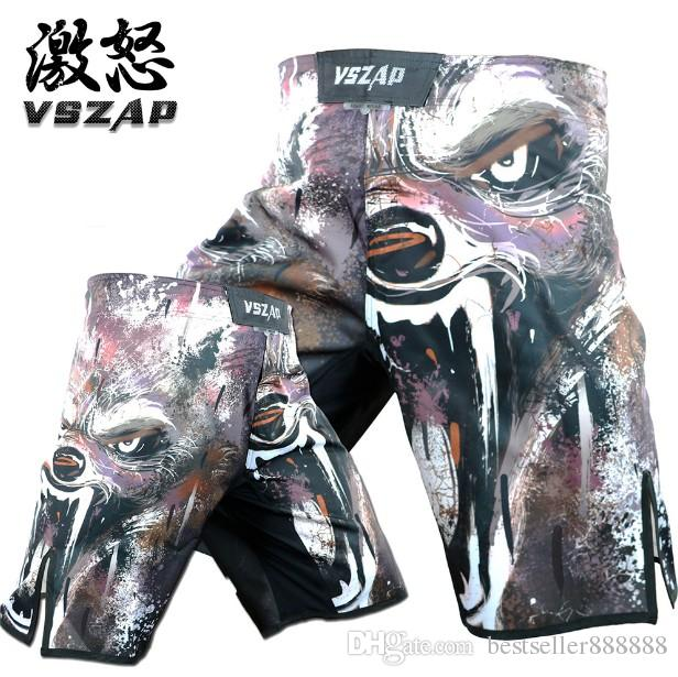 VSZAP Angry WOLVES fight Wolf training fitness fighting shorts fight shorts  MMA wulin wind running man