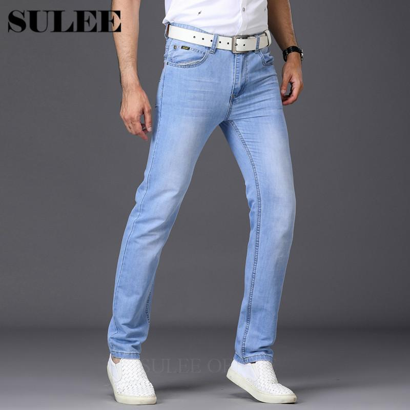 d46d7b0dc8f73 Compre Subrandres Skinny Jeans Hombres Ligeros Y Finos Clásicos Jeans  Estilo De Verano Pantalones Vaqueros Masculinos Marca Primavera Otoño Para  Hombre A ...