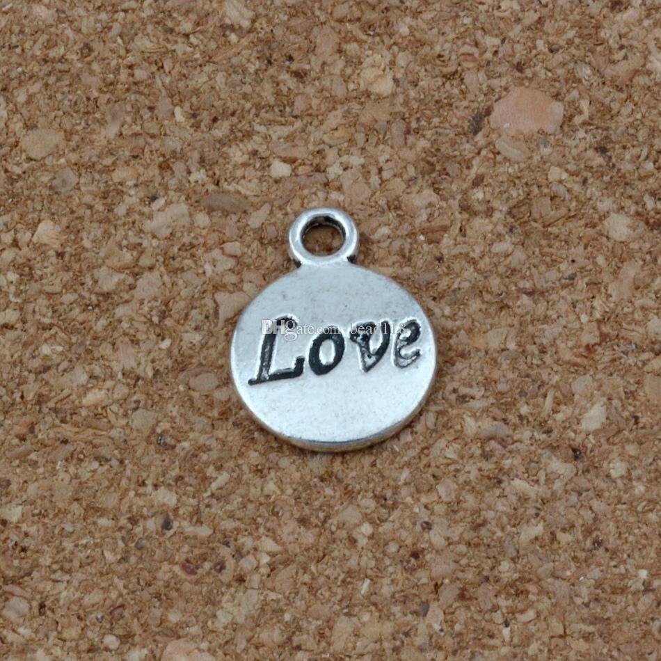 Espero Que Acredite Amor Fé Jesus Encantos Pingentes 100 Pçs / lote 11.5x15.5mm Antique Silver Moda Jóias DIY Fit Pulseiras Colar Brincos A-23