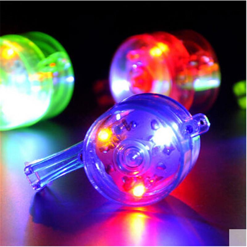 20pcs/lot glow whistle atmosphere making party decoration supplies colorful transparent LED light whistle flashing toy for kids