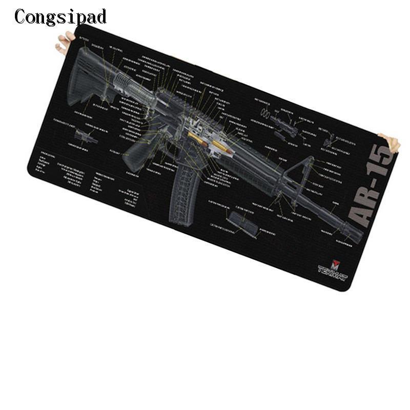 Congsipad Simple Design Speed Gun parts Game Black MousePads Computer  Gaming Mouse Pad For CSGO Gamer Play Mats Version Mousepad