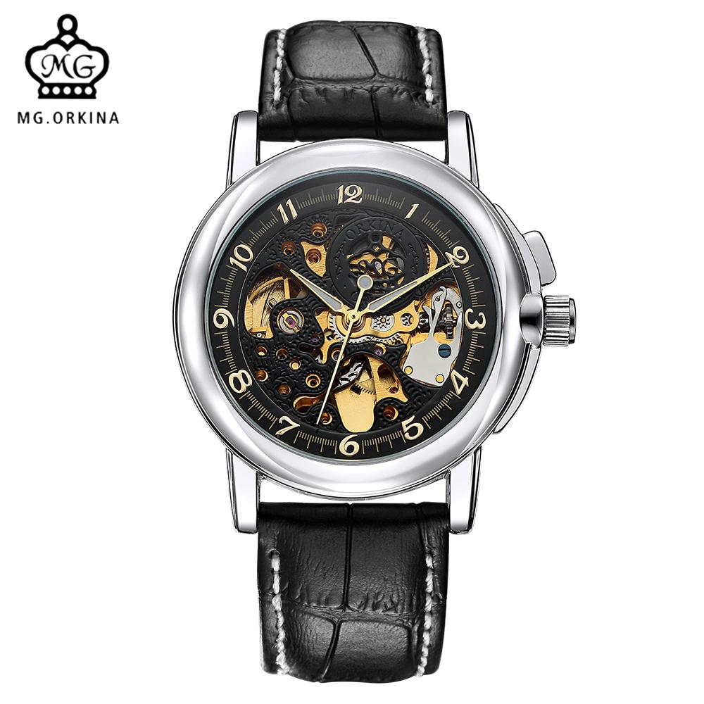 products bezel skeleton hollow skeletongolden watches engraving golden elucid classic gear