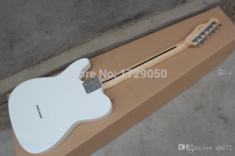 Instrumentos musicais chineses Fábrica personalizado 2015 Novo branco TL guitarra elétrica preto Pick Guard frete grátis 412asd