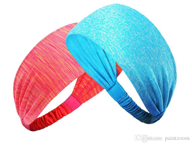 Atacado yoga headband esportes correndo Quick Drying Alta Elastic faixa de cabelo Estiramento Headband Headwear Acessório