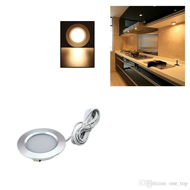 3w Led Under Cabinet Light Kit Puck Lights Under Counter Showcases Light  Led Recessed Small Ceiling Downlight Cabinet Lights Ac 85v 265v Led  Downlights ...