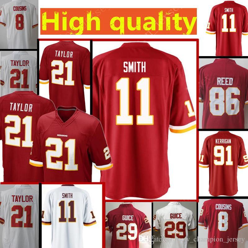 3edc47e9f Mens Washington Redskins Jersey  11 Alex Smith 21 Sean Taylor 86 ...
