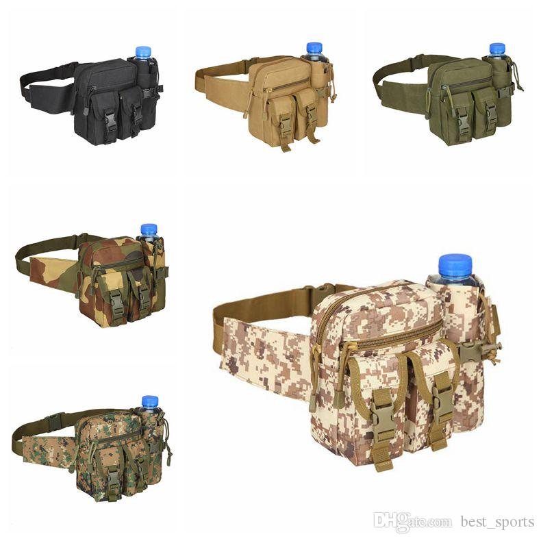 10 Colors Camo Water Repellent Fanny Pack Camouflage Hunting Waist Belt Bag Sports Bags CCA9350 50pcs