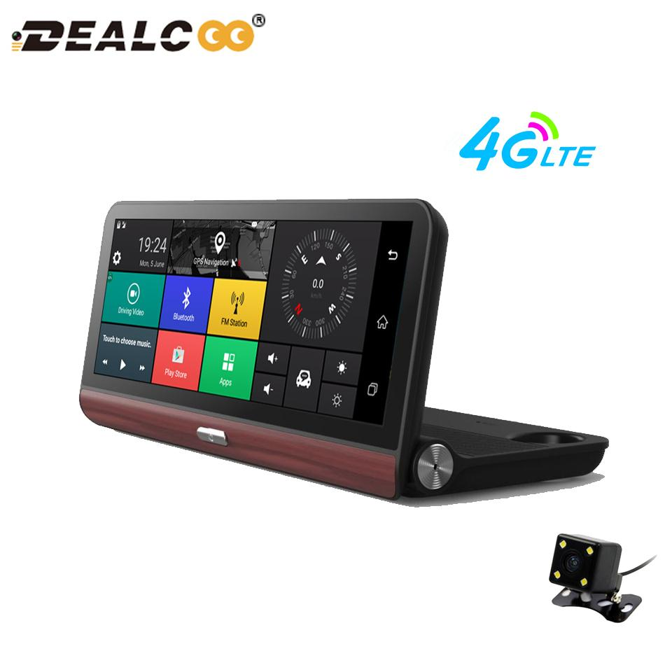 8 Touch Screen Car Navigation with Russian Europe Free Maps 1080P Car DVR  Recorder Camera Android 4G WIFI Dash Cam Navigator GPS