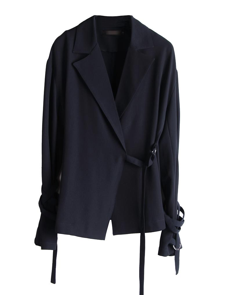 f4066771cccc1 GETSRING White Coat Women Belt Long Sleeve Outerwear Womens Solid ...