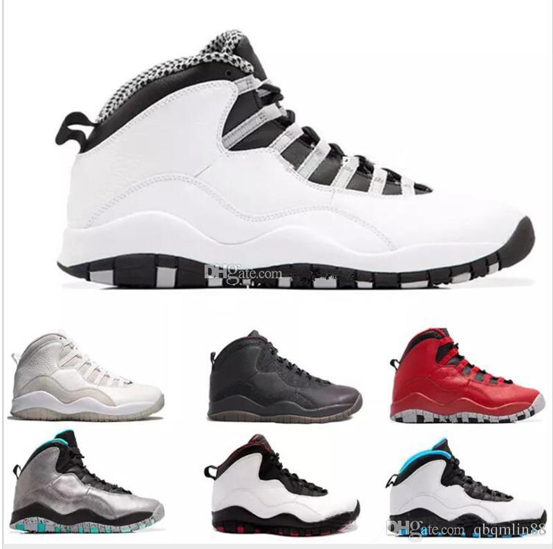buy popular 57a34 c5a69 Basketball Shoes 10 Paris NYC CHI Rio LA Hornets City Pack Vivid Pink 10s  Men Basketball Shoes Sneakers X Sports Shoes 8-13