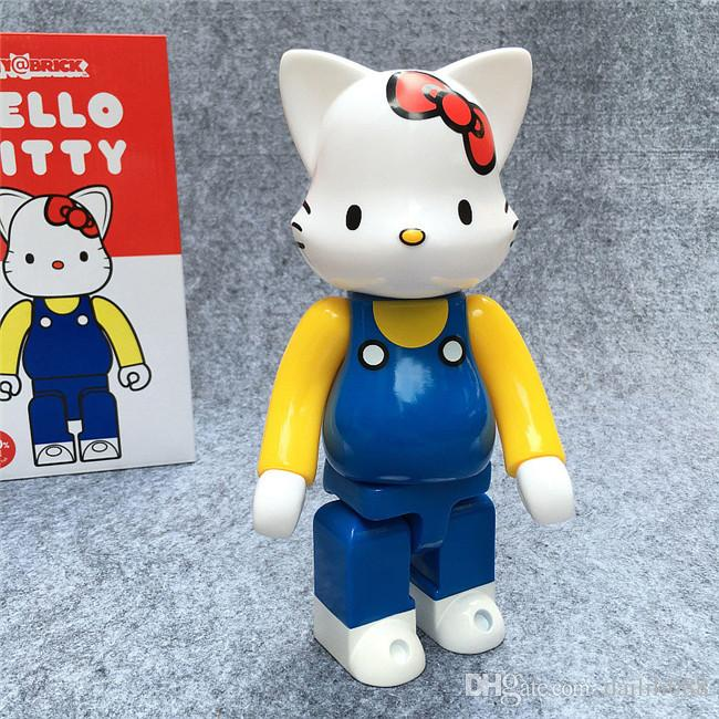 LilyToyFirm New Arrival 400% Bearbrick Action Figure Hello Kitty KT Boxed PVC 26cm Action Figure Model Collection Toys