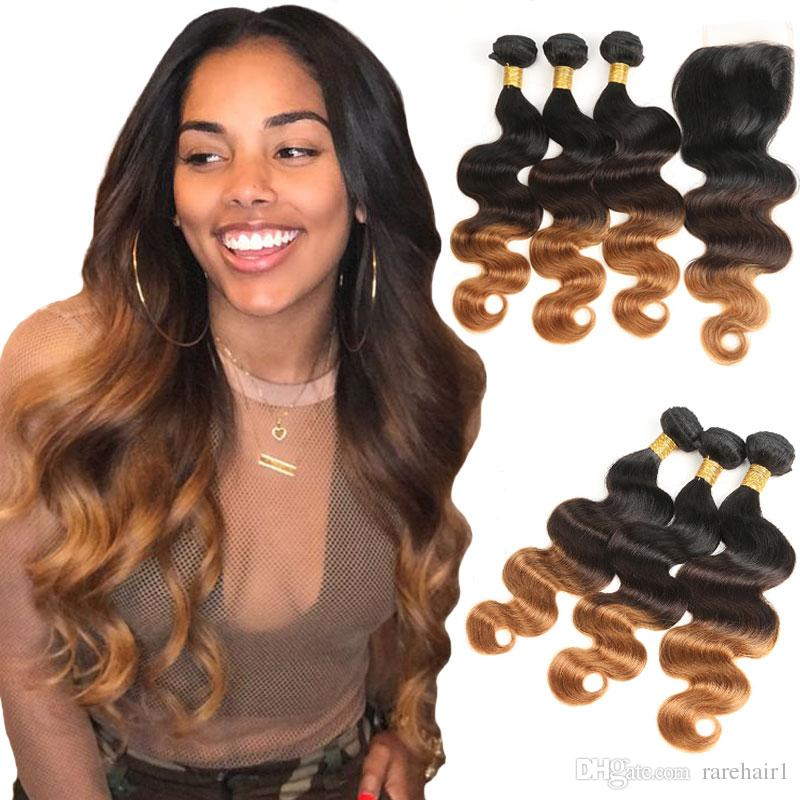 Hair Extensions & Wigs Hair Weaves Trustful T1b/orange Ombre Body Wave Bundles Human Hair 10 Bunldes Ombre Brazilian Hair Weave Wholesale Price Remy Human Hair Extensions Lustrous