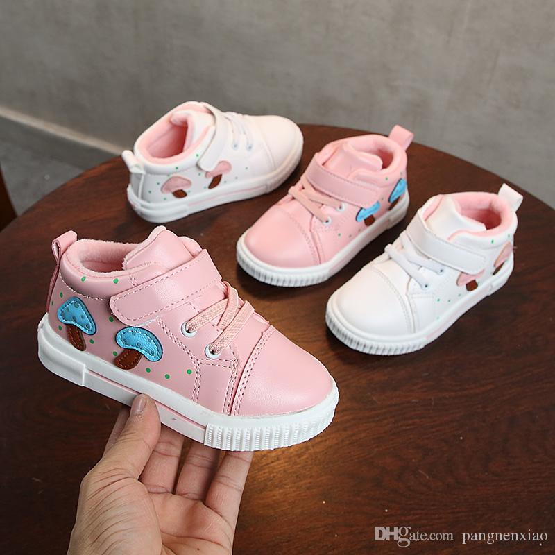7e82eb5d50ca5 Acheter Chaussure Garcon Enfant Chaussures Pour Enfants Chaussures Bébé  2018 Pour Filles Baskets Garçons Cuir Imperméable Basket Chaussures De  Sport De ...