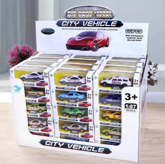 Car model 48 Kinds of Children Toys New Alloy Car Toy Alloy Car Booth Sale