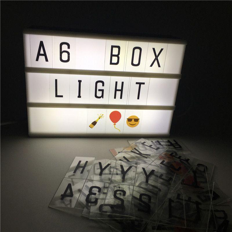 Leedome A6 Boite Nuit Lampe Cinema Eclairage Batterie Alimentation Led Cinema Lightbox Enfant Cadeau Lumiere Accueil Bar Vintage Led Signe