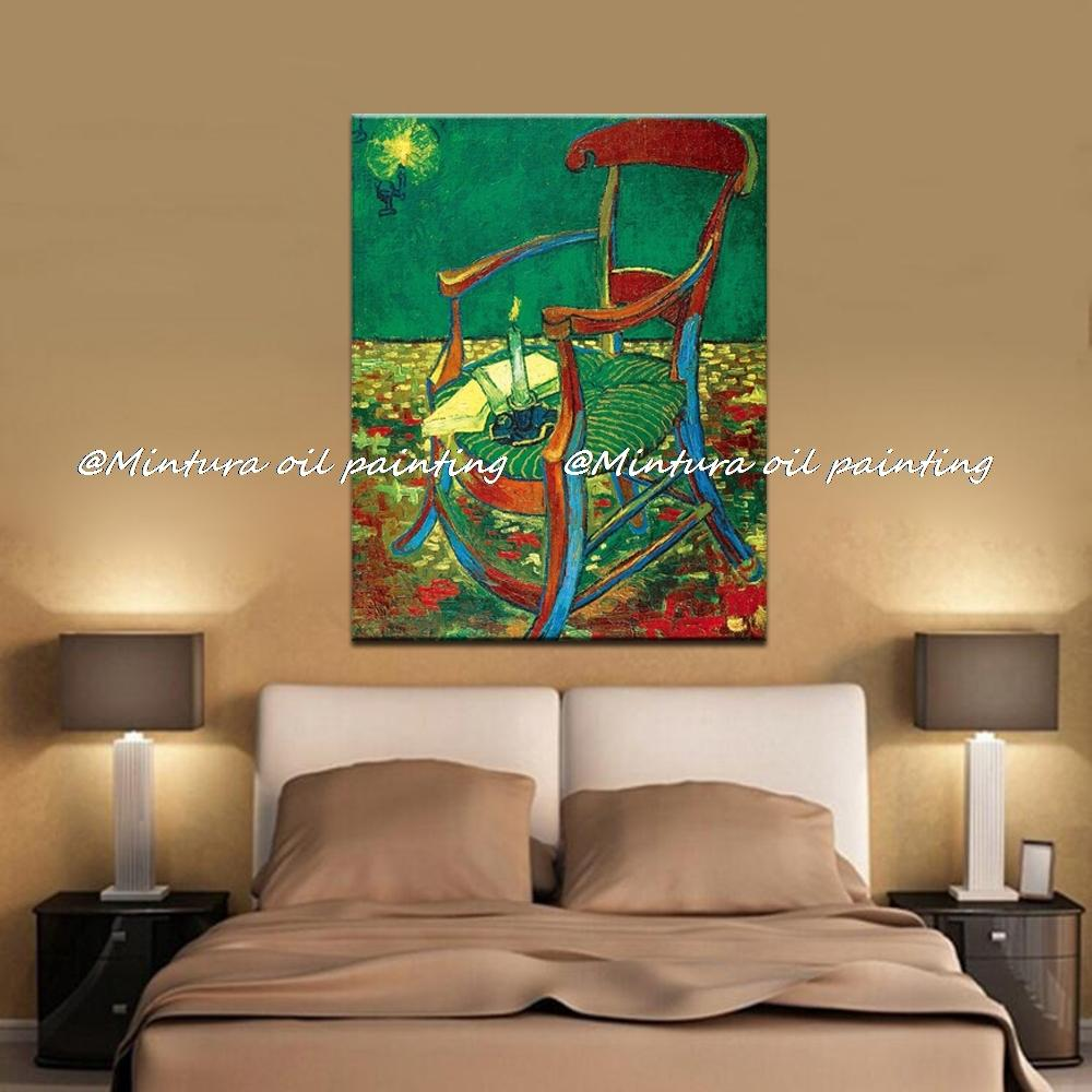 2019 GauguinS Chair Of Vincent Van Gogh 100 Hand Made High Q Reproduction Oil Painting On Canvas Wall Art Picture For Living Room From Qushimei88