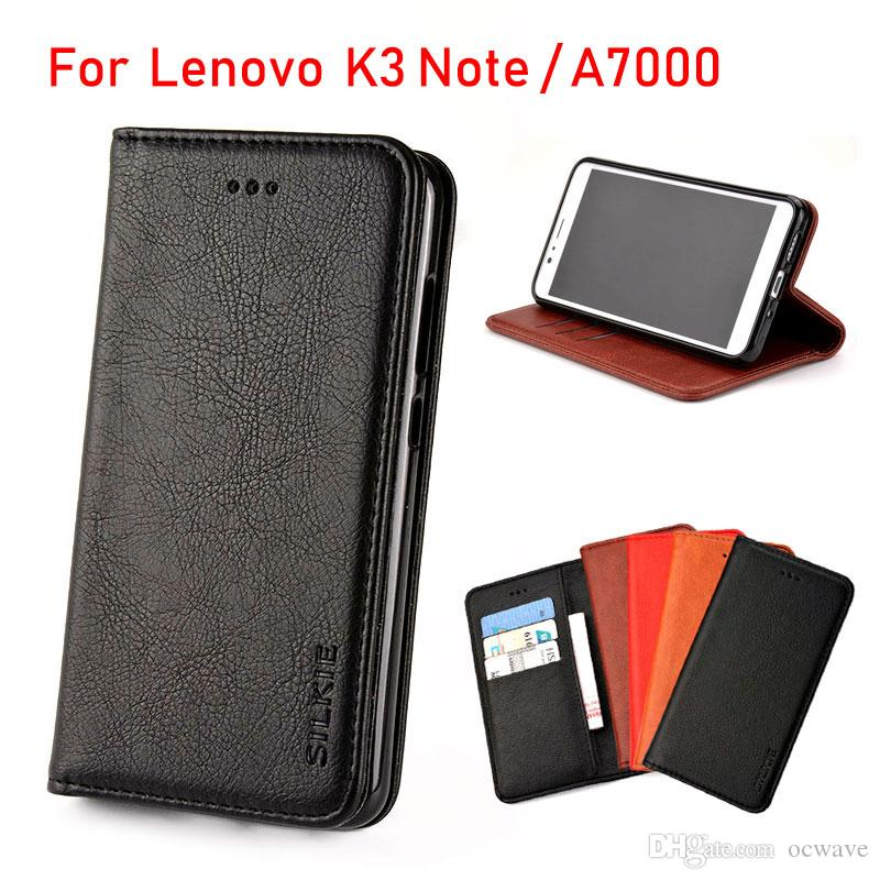 detailed look 221b2 240e8 For Lenovo K3 Note case Luxury Flip cover Vintage Leather with Card Slot  Without magnets phone Cases for Lenovo K3 Note A7000 fundas coque
