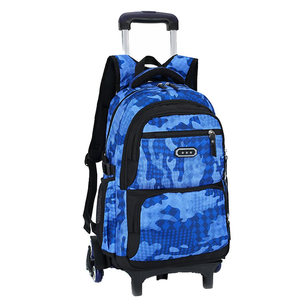 5bf71dc73e23 Hot Boys Trolley Backpack Girls Wheeled School Bag Children Travel Luggage  Suitcase On Wheels Kids Rolling Book Bag Detachable Backpacks For School  Small ...