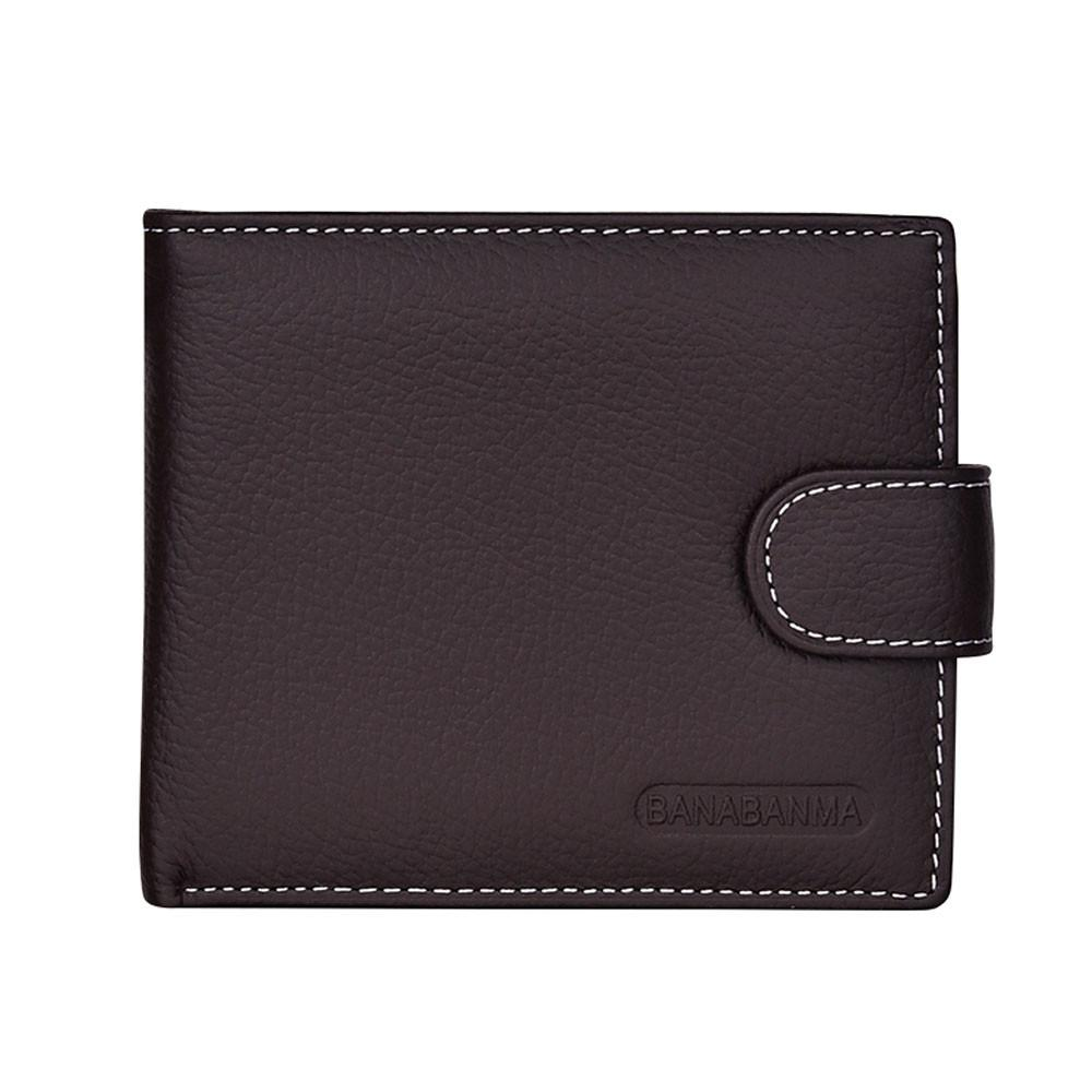 bf45533f6141 JCXAGR Men Short Bifold Business Leather Wallet Money Card Holder ...