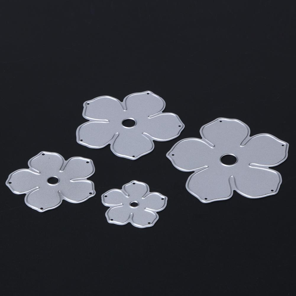 4 Stücke Blume Stanzformen Scrapbooking Metall Schablone für Fotoalbum Papier Karte Machen Dekorative Würfel Handwerk Präge Vorlage