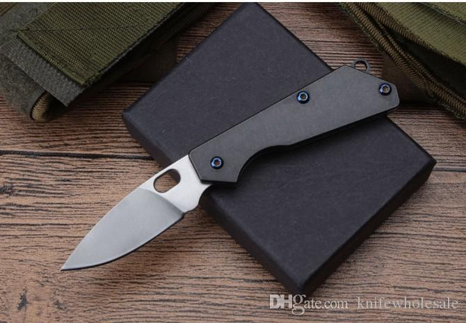 Tactical Self Defense Outdoor Knife Mini Survival Knife Cool Pocket Knife D2 Blade TC4 Models Steel Camping Survival Folding Knifes