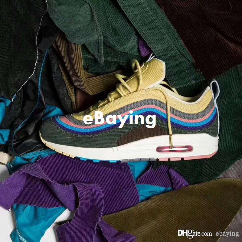 outlet extremely 2018 Shoes 97 97s 1 97 Corduroy VF SW Sean Wotherspoon Mens Women Running Shoes Multi Hybrid Sports Sneakers size us 5.5-12 hot sale cheap online cLfv0e