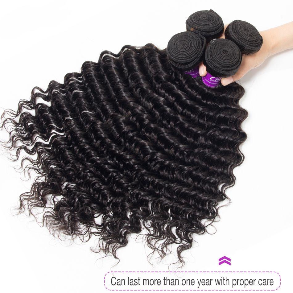 4 bundles visone tessuto brasiliano vergine dei capelli dell'onda profonda fasci 8-30 pollici jet 100% / nero naturale onda profonda dei capelli umani offerte