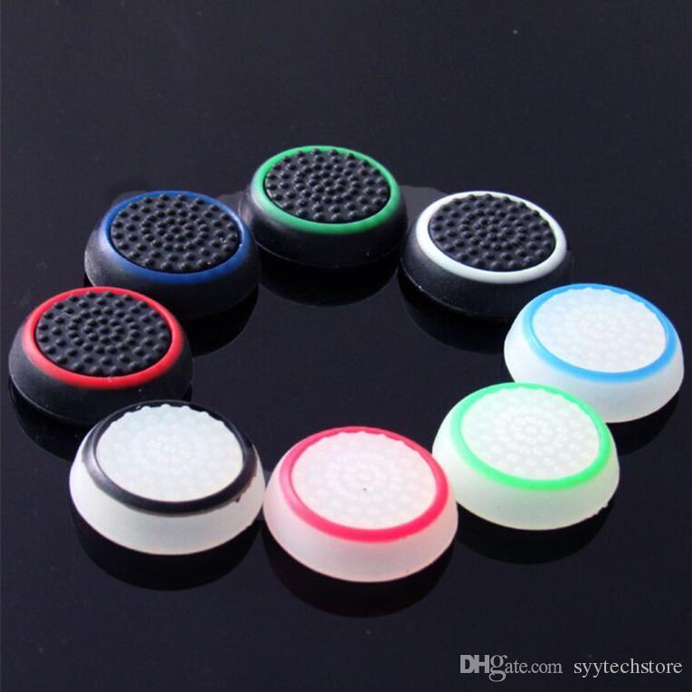 Ücretsiz kargo Çift Renk Thumb Çubuk Kavrama Silikon Kap Joystick Kapak Kılıf PS4 Xbox one PS3 Xbox için Silikon Kap 360 Denetleyici